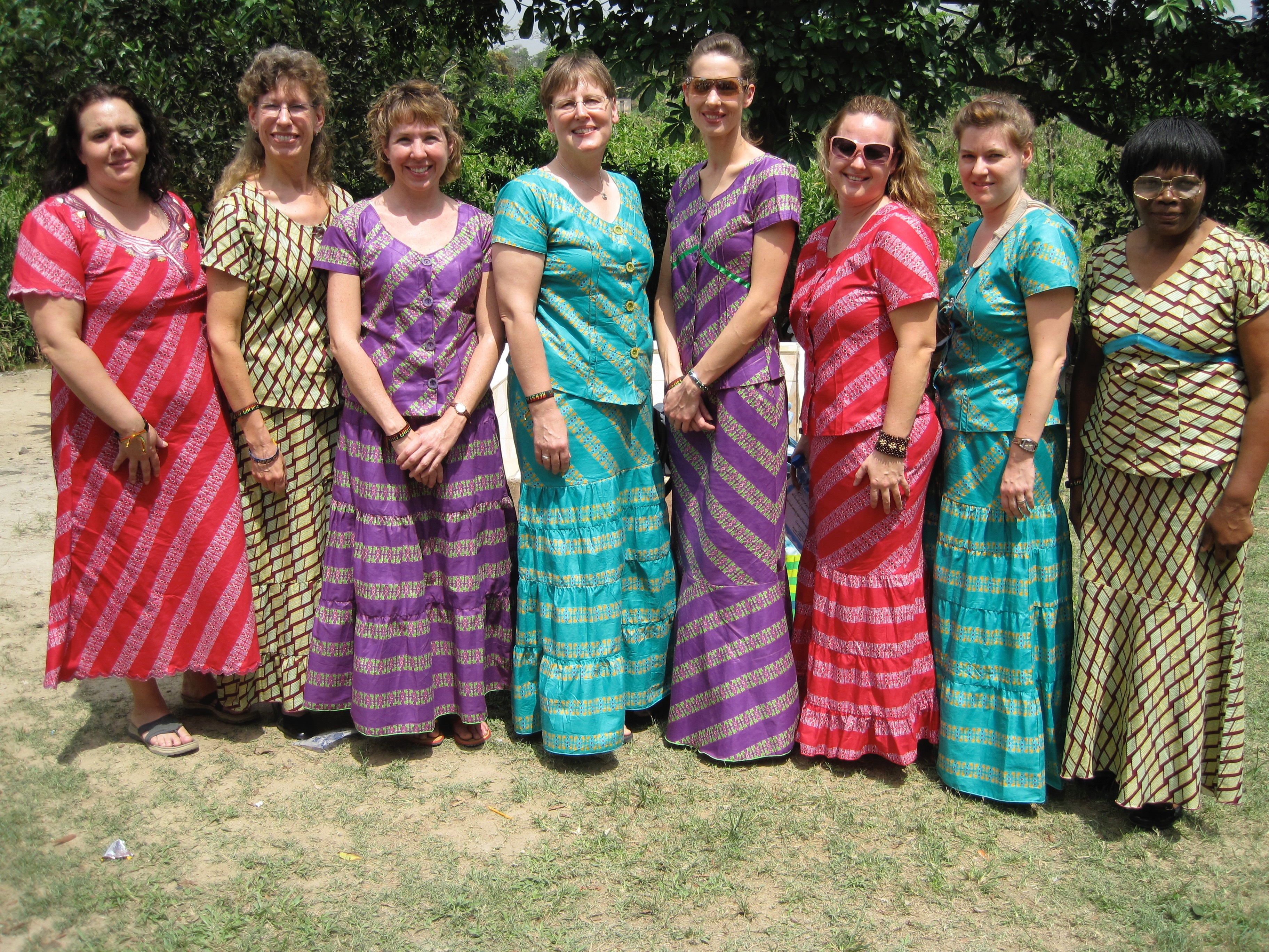 Ghana Team wearing our special dresses